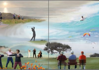 Goldmanfineart_Aging Gracefully Mural_Scripps La Jolla Spec Design_third Floor Lobby_4ftx10ft