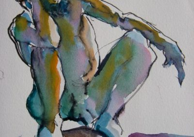 kengoldmanfineart-Five minute Study-Watercolor-8x6