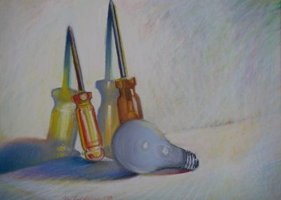 kengoldmanfineart-Straight verses Round-Pastel-11x14