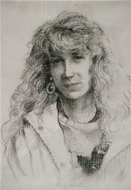 Ken_Goldman-Stephanie-Charcoal Drawing-14x11