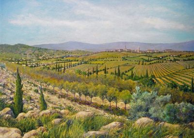 kengoldmanfineart-Italian Landscape-Acrylic-48x60 - SOLD - Giclees Available