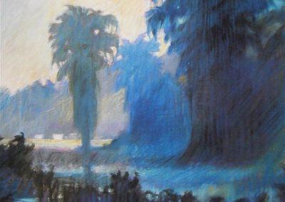 kengoldmanfineart-Mist Rising-Pastel-40x30- SOLD