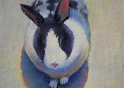 Ken_Goldman-Calico Rabbit 2-Pastel-24x18