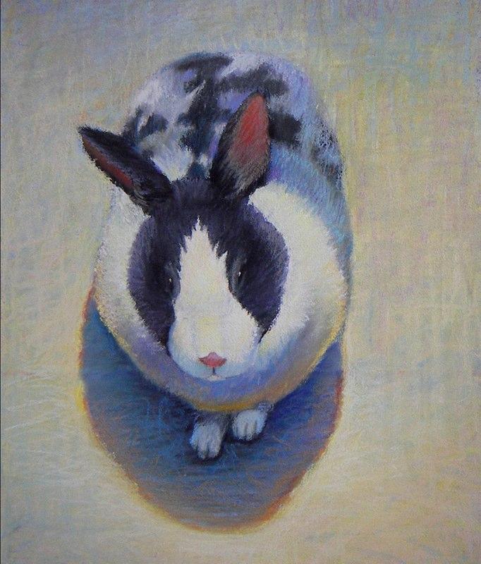 Ken_Goldman-Calico Rabbit 2-Pastel-24x18
