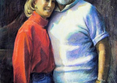 kengoldmanfineart-Shila and Morrie-Pastel Figure-44x32commission - SOLD
