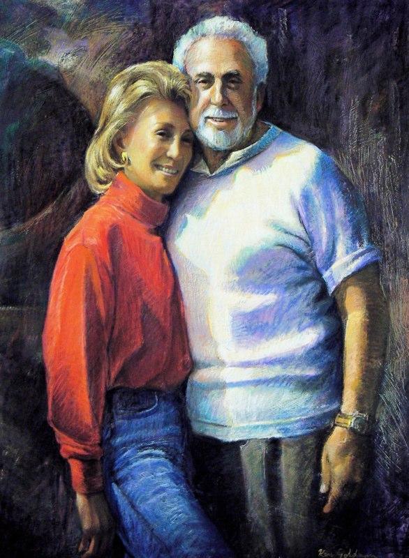 Ken_Goldman-Shila and Morrie-Pastel Figure-44x32commission - SOLD