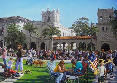 kengoldmanfineart-A Day At The Prado-Acrylic-Figures-48x60 - SOLD - Giclees Available