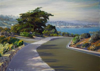 kengoldmanfineart-Cabrillo Point Vista-Oil-Landscape-9x12