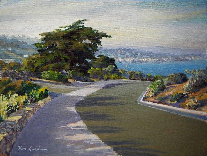 Ken Goldmanfineart-Cabrillo Point Vista-Oil-Landscape-9x12