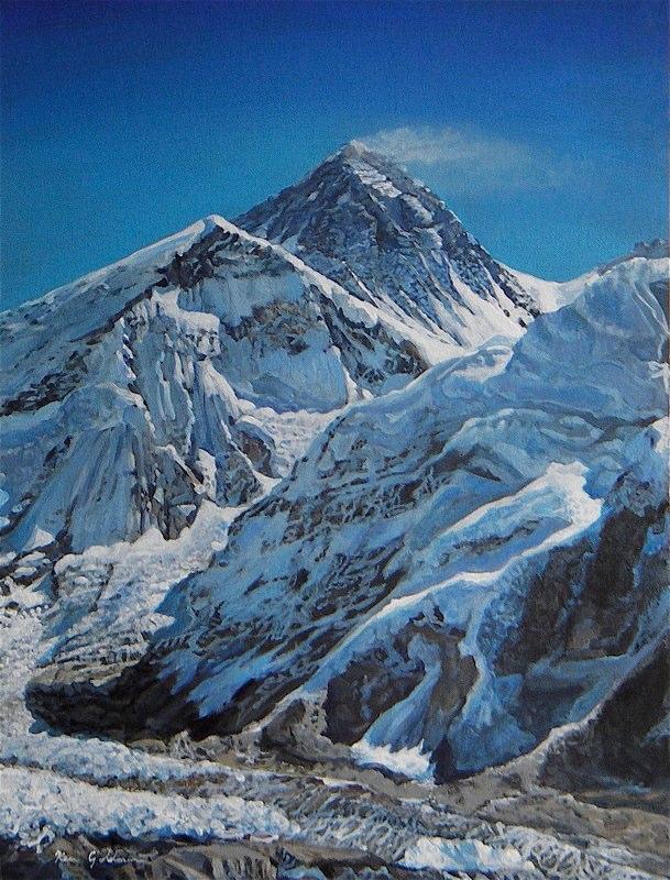 Ken_Goldman-Himalayan Base Camp-Acrylic-24x18 - SOLD - Giclees Available