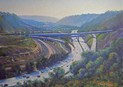 kengoldmanfineart-La Jolla Scenic Road Vista-Oil-Landscape-12x16 - SOLD