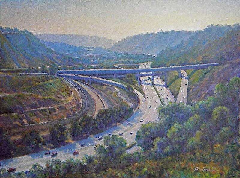 Ken Goldmanfineart_La Jolla Scenic Road Vista-Oil-Landscape-30x40 - SOLD