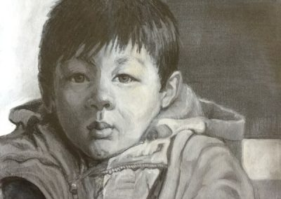 stephaniegoldmanfineart-Small Boy-Watercolor-11x8