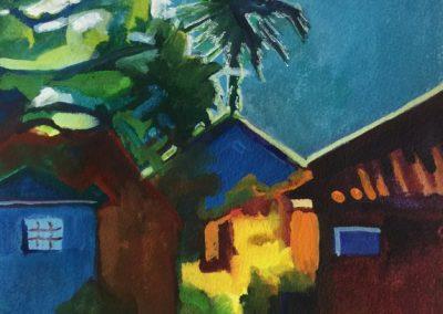 stephaniegoldmanfineart-Bali Zen Glow-Watercolor-10x7