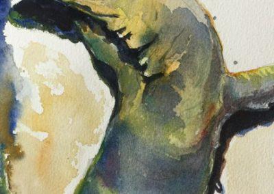 stephaniegoldmanfineart-Monitor Lizard-Watercolor-10x6