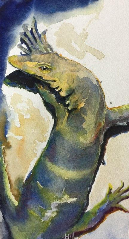 Stephanie_Goldman-Monitor-Lizard-Watercolor-10x6
