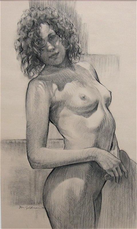 Ken_Goldman-Jennifer-Charcoal Drawing-16x8 - SOLD