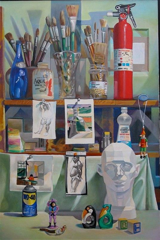 Ken_Goldman-Fire Extinguisher-Acrylic-Still Life-36x24