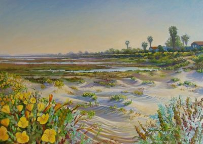kengoldmanfineart-Ocean Beach Rivermouth-Oil-Landscape-30x40  - SOLD - Giclee Available