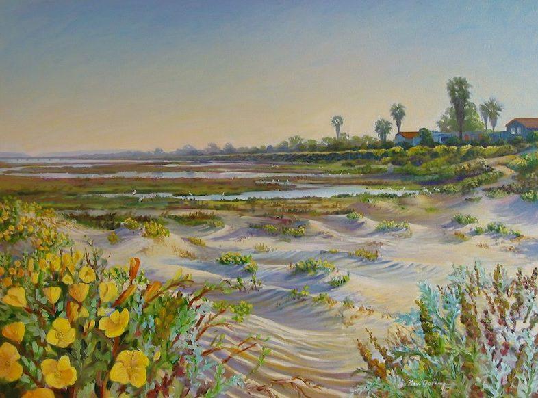 Ken-Goldman-Ocean Beach Rivermouth-Oil-Landscape-30x40 - SOLD - Giclee Available