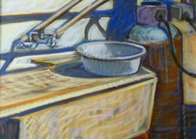 kengoldmanfineart-Wash Basin-Pastel-20x16- SOLD