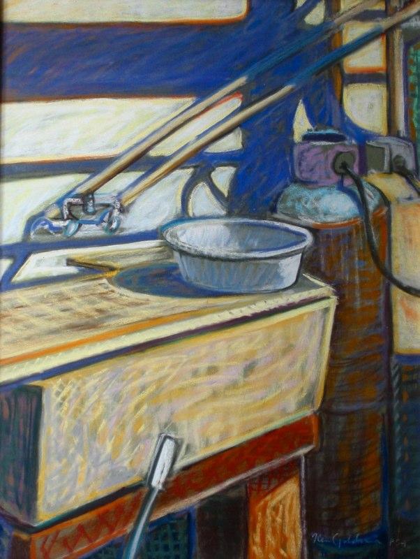 Ken_Goldman-Wash Basin-Pastel-20x16- SOLD