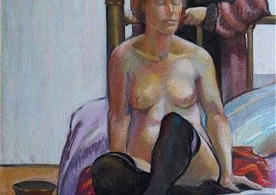 kengoldmanfineart-Sisters-Pastel Figure-44x32