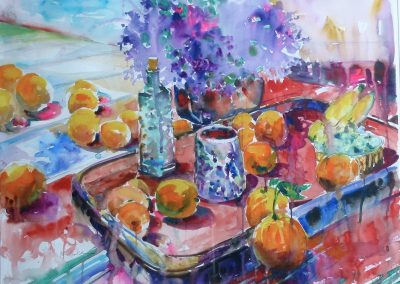 kengoldmanfineart-Spring Still Life-Watercolor-22x30 - SOLD