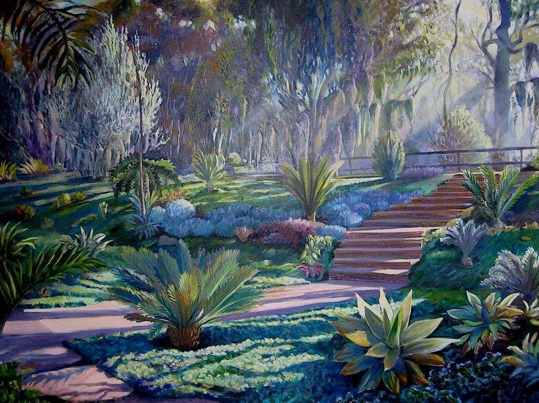 Ken Goldmanfineart_Succulent-Garden-Oil-Landscape-36x48