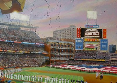 kengoldmanfineart-Petco Park Detail-Acrylic-Figures-48x60 - SOLD - Giclees Available