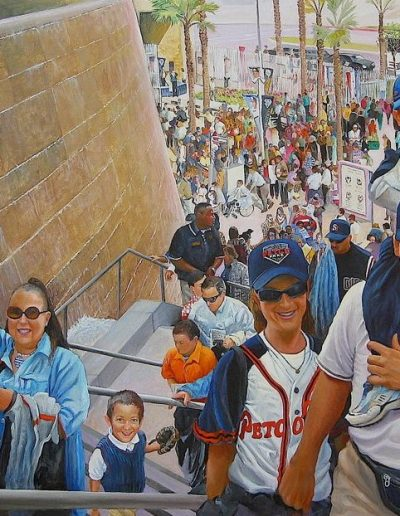 Ken_Goldman-Petco Park Detail-Acrylic-Figures-48x60 - SOLD - Giclees Available