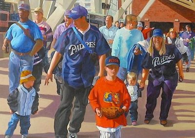 kengoldmanfineart-Petco-Park-Deatail-Acrylic-Figures-48x36 - SOLD - Giclees Available