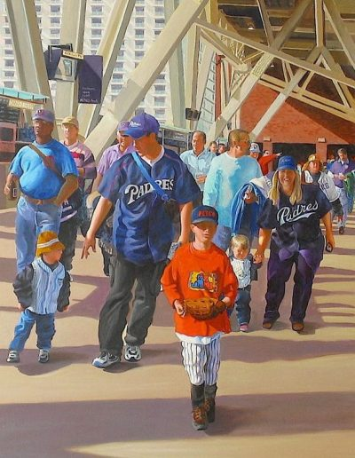 Ken_Goldman-Petco-Park-Deatail-Acrylic-Figures-48x36 - SOLD - Giclees Available