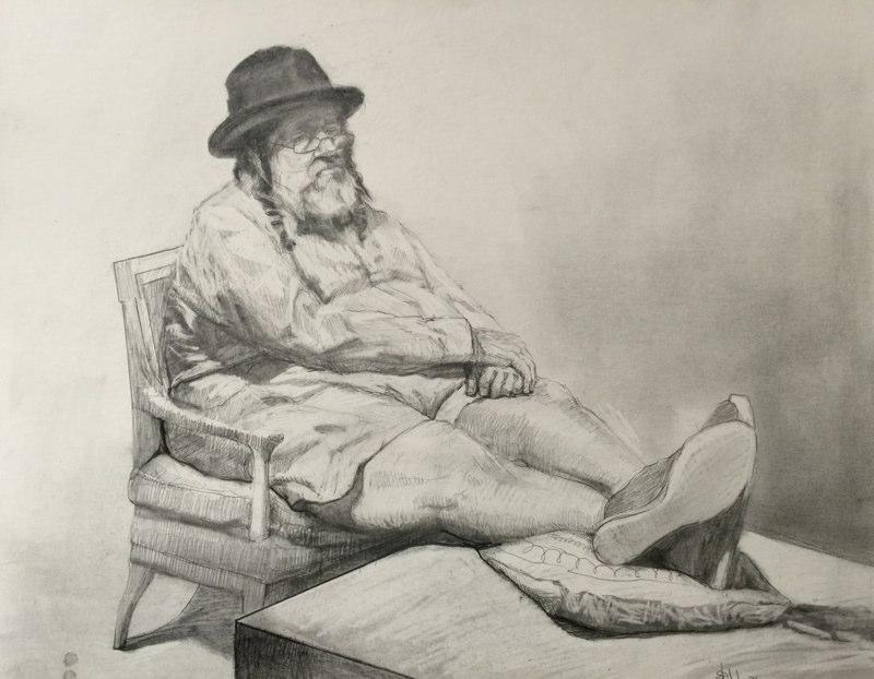 Stephanie_Goldman-Not-Rabbi-Graphite-Drawing-14x17
