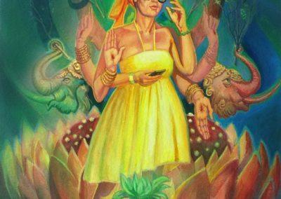 stephaniegoldmanfineart-Bhakti Fest Joshua Tree-Watercolor-27x20