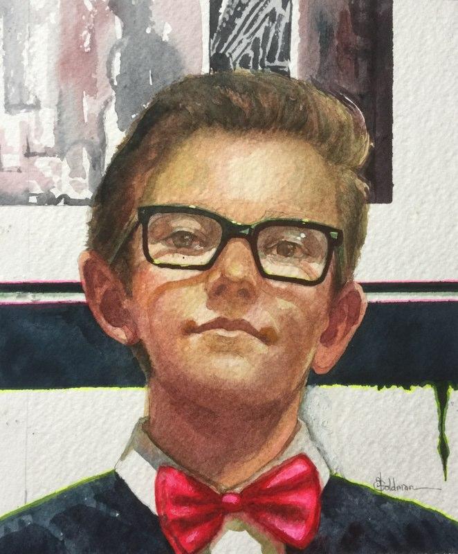 Stephanie_Goldman-Generation-Bow-Tie-Watercolor-9x8