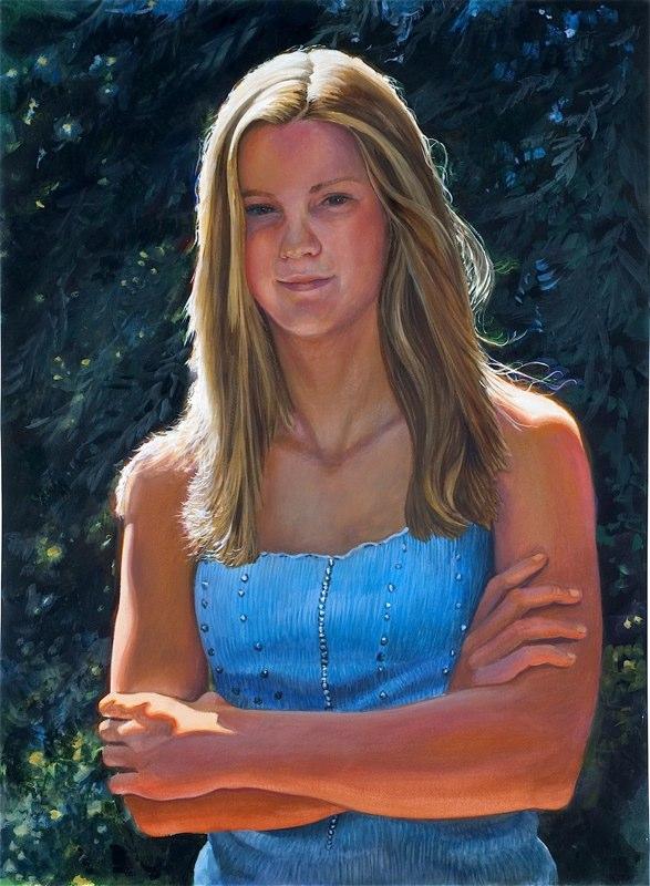 Ken Goldmanfineart_Izzy_Watercolor_30x22, SOLD