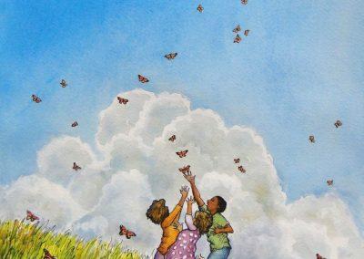 Goldmanfineart-Rady's Children's-Mural-Pillar-Healing Art