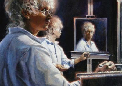 kengoldmanfineart-Stephanie's Double Mirrored Self-Portrait-Oil Figures-30x24