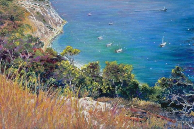 Ken_Goldman-Above Avalon-Pastel-22x30- SOLD