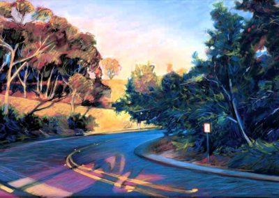 kengoldmanfineart-La Jolla Hairpin-Pastel-22x30- SOLD