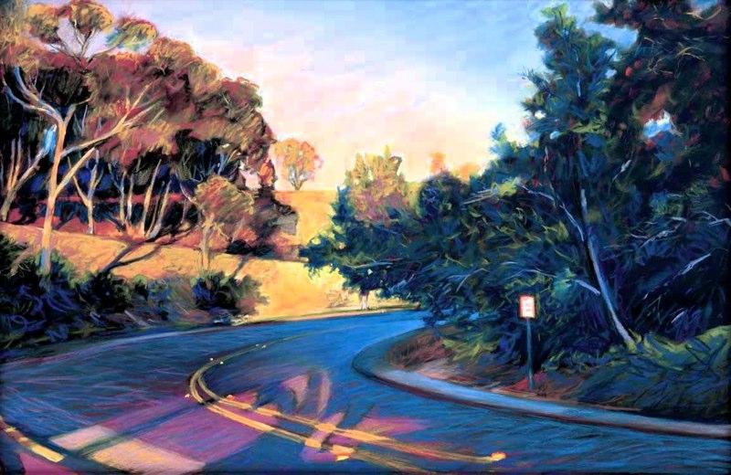 Ken_Goldman-La Jolla Hairpin-Pastel-22x30- SOLD