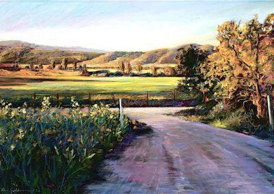 kengoldmanfineart-San Pasqual Dawn-Pastel-22x30- SOLD