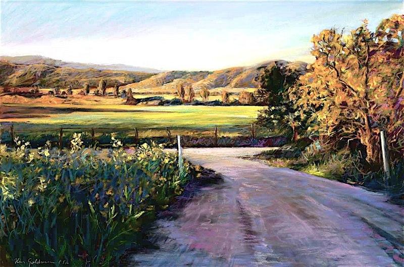 Ken_Goldman-San Pasqual Dawn-Pastel-22x30- SOLD