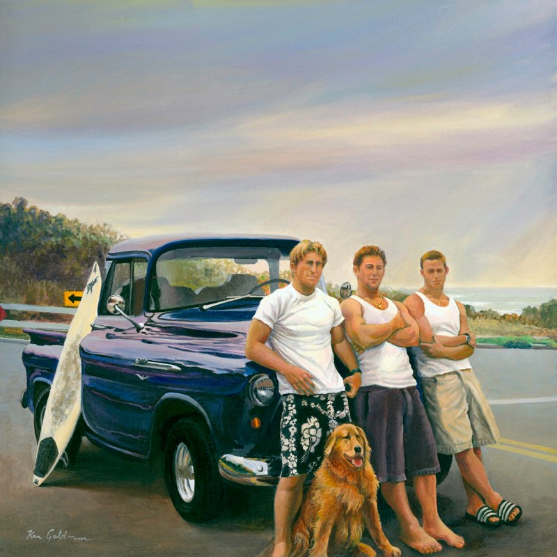 Ken Goldmanfineart-The Boys-Acrylic-24x24 - SOLD - Giclees Available