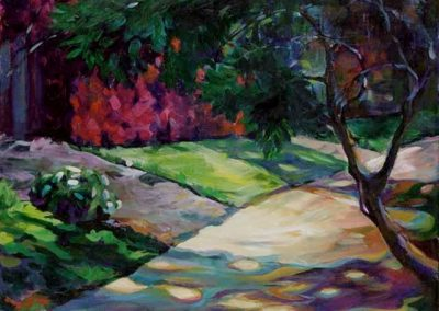 kengoldmanfineart-Sunlit Pathway-Acrylic-18x24 - SOLD - Giclees Available