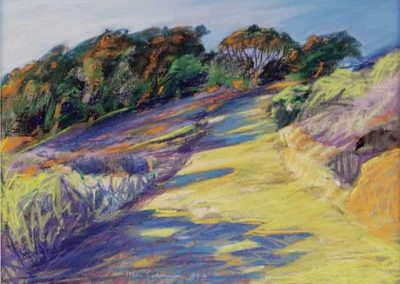 kengoldmanfineart-Sunset Cliffs Walk-Pastel-22x30- SOLD