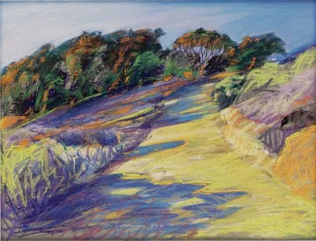 Ken_Goldman-Sunset Cliffs Walk-Pastel-22x30- SOLD