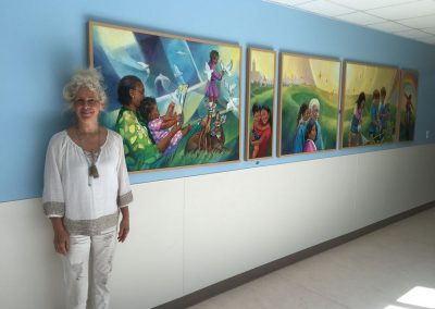 goldmanfineart_Children's hospital of central california_caring mural1
