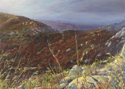 kengoldmanfineart-Chaparral Fogrise-Oil-Landscape-40x24 - SOLD - Giclee Available
